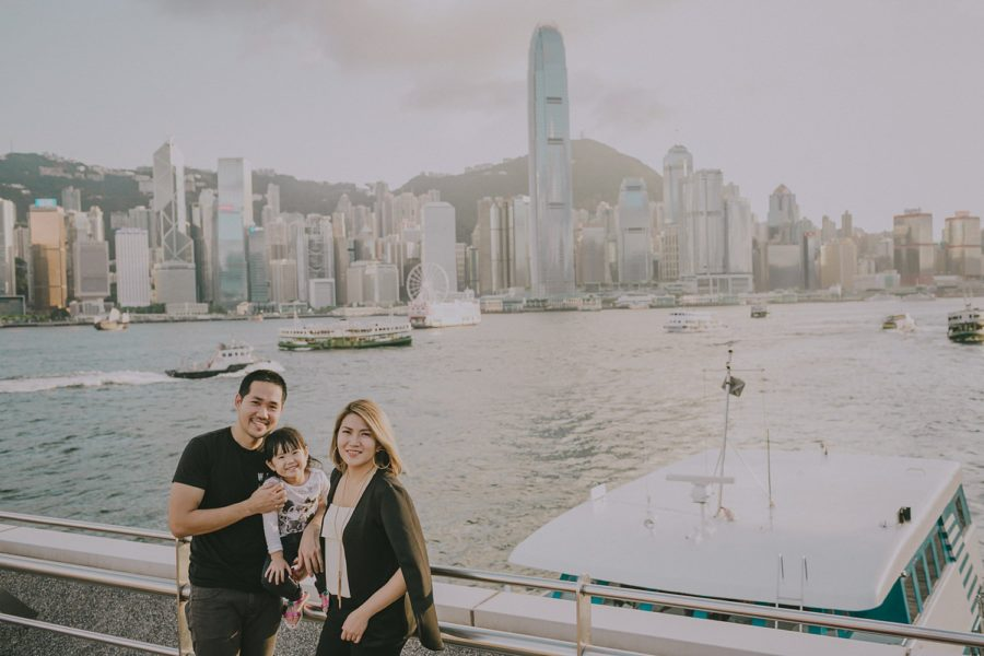 Judd, Stephanie and Sage in Hong Kong